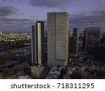 the downtown district of ... | Shutterstock . vector #718311295