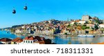 panorama of porto with cable... | Shutterstock . vector #718311331