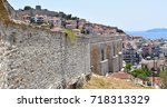 view to the fortress and kavala ... | Shutterstock . vector #718313329
