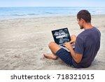 freelancer looking for work... | Shutterstock . vector #718321015