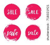 sale leaves prints  banner ... | Shutterstock .eps vector #718321921