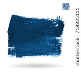 blue brush stroke and texture.... | Shutterstock .eps vector #718325125
