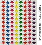 colorful star stickers in nylon ... | Shutterstock . vector #718326859