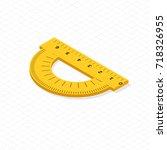 protractor instrument  made of...   Shutterstock .eps vector #718326955