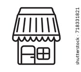 yard house  icon vector symbol... | Shutterstock .eps vector #718331821