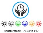 clock maintenance rounded icon. ... | Shutterstock .eps vector #718345147