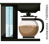 coffee maker with glass jar in... | Shutterstock .eps vector #718350061