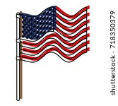 flag united states of america... | Shutterstock .eps vector #718350379