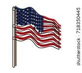 flag united states of america... | Shutterstock .eps vector #718350445
