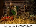 village | Shutterstock . vector #718351429