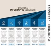 infographic elements template | Shutterstock .eps vector #718352311