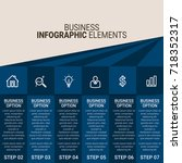 infographic elements template | Shutterstock .eps vector #718352317