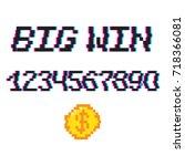 vector 8 bit pixel art style... | Shutterstock .eps vector #718366081