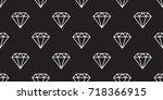 diamond icon jewelry vector...   Shutterstock .eps vector #718366915