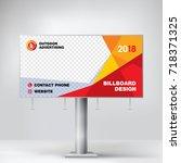 billboard design  graphic... | Shutterstock .eps vector #718371325