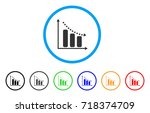 negative trend rounded icon....   Shutterstock .eps vector #718374709