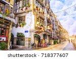 strasbourg  alsace  france  ... | Shutterstock . vector #718377607