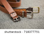 asian men's vintage belt... | Shutterstock . vector #718377751