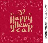 happy new year hand drawn...   Shutterstock .eps vector #718378399
