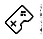 game console  icon vector... | Shutterstock .eps vector #718378645