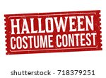 halloween costume contest... | Shutterstock .eps vector #718379251