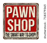 pawn shop vintage rusty metal... | Shutterstock .eps vector #718379365