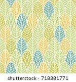 vector abstract seamless... | Shutterstock .eps vector #718381771