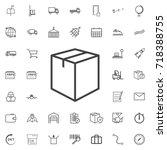 icon box line icon logistics... | Shutterstock .eps vector #718388755