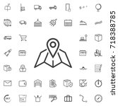 map pin line icon logistics... | Shutterstock .eps vector #718388785