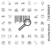 bar code search line icon... | Shutterstock .eps vector #718388869