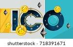 blockchain technology  ico... | Shutterstock .eps vector #718391671