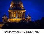 st. petersburg. view of st.... | Shutterstock . vector #718392289