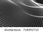 abstract polygonal space low... | Shutterstock . vector #718392715