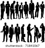 business people collection  ... | Shutterstock .eps vector #71841067