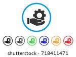 mechanic gear service hand... | Shutterstock .eps vector #718411471