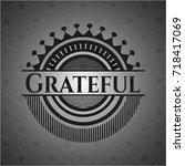 grateful dark emblem | Shutterstock .eps vector #718417069
