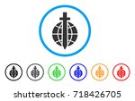 global guard rounded icon.... | Shutterstock .eps vector #718426705
