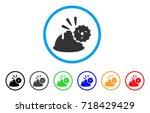 circular blade head protection... | Shutterstock .eps vector #718429429