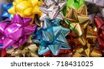 bow variety of colors.  take on ... | Shutterstock . vector #718431025