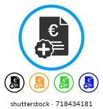 euro medical invoice icon.... | Shutterstock .eps vector #718434181