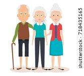 grandparents group avatars... | Shutterstock .eps vector #718435165