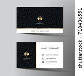 modern business card template... | Shutterstock .eps vector #718436551