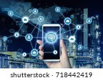 ai artificial intelligence  and ... | Shutterstock . vector #718442419