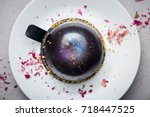 beautiful drench surface cake ... | Shutterstock . vector #718447525