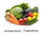 vegetable set | Shutterstock . vector #718449451