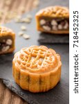 mooncake  a kind of traditional ... | Shutterstock . vector #718452325