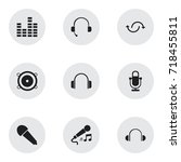 set of 9 editable melody icons. ...