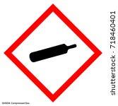 dangerous icon of hazardous... | Shutterstock .eps vector #718460401