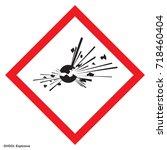dangerous icon of hazardous... | Shutterstock .eps vector #718460404