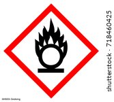 ghs dangerous icon of hazardous ... | Shutterstock .eps vector #718460425